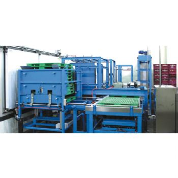 Auto Plastic Crate Palletizer